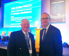 ICSA Chairman Donal Kennedy and Minister Simon Coveney